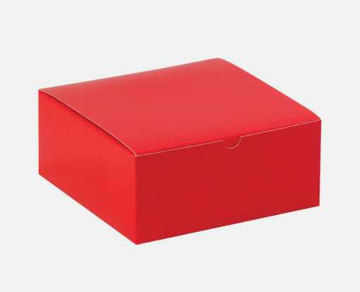 Gift Boxes (8 x 8 x 3 1/2 ) Holiday Red