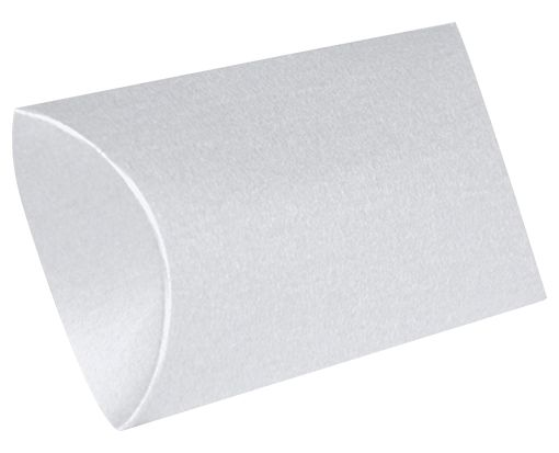 Medium Pillow Boxes (2 1/2 x 7/8 x 4) Silver Metallic