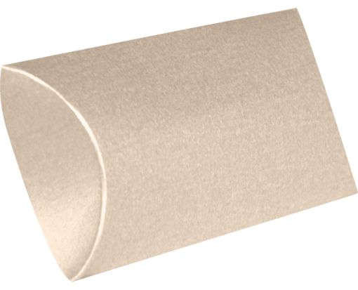 Medium Pillow Boxes (2 1/2 x 7/8 x 4) Taupe Metallic