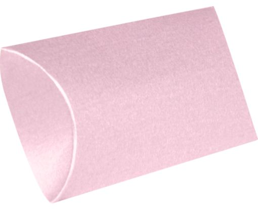 Medium Pillow Boxes (2 1/2 x 7/8 x 4) Rose Quartz Metallic