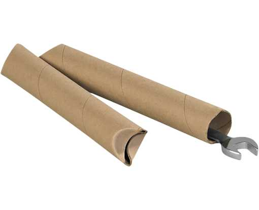 1 1/2 x 24 Crimped End Tubes Brown Kraft
