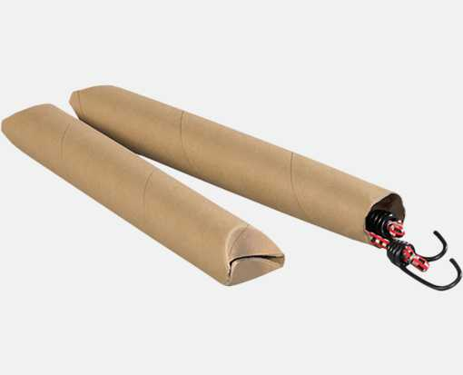 2 x 43 Crimped End Tubes Brown Kraft