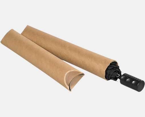 2 1/2 x 18 Crimped End Tubes Brown Kraft