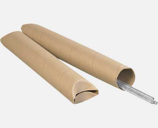 3 x 48 Crimped End Tubes Brown Kraft