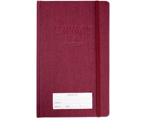 No. 7 Dot Grid Planner Notebook (6 x 8.25) - Burgundy Burgundy