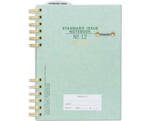 No. 12 Planner Notebook (6 x 8.25) - Green Green - No. 12