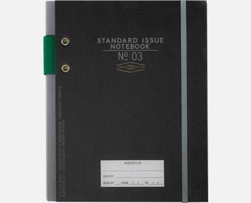 No. 3 Planner Notebook (6.75 x 8.5) Black