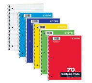 8 x 10 1/2 1 Subject Notebooks - College Ruled