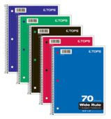 8 x 10 1/2 1 Subject Notebooks - Wide Ruled