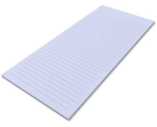8 1/2 x 11 Ruled Notepad (50 Sheets/Pad) - Lilac 80lb. Lilac - Ruled