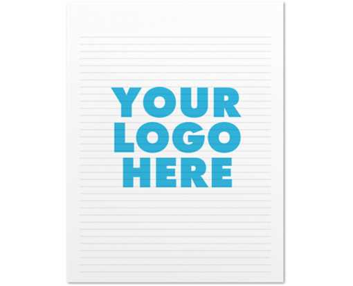 8 1/2 x 11 Ruled Notepad (50 Sheets/Pad) White 60lb.