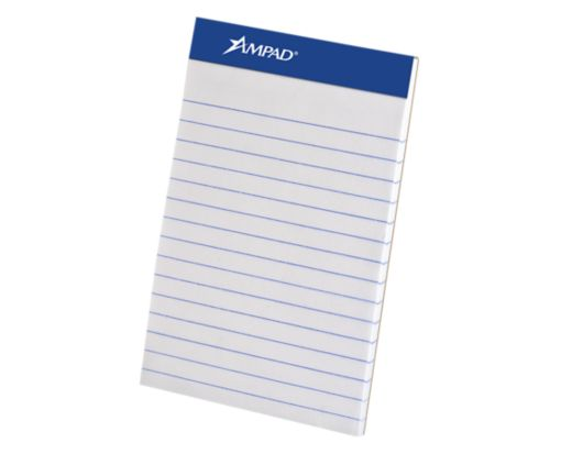 Ampad 3 x 5 Notepad - Narrow Ruled White