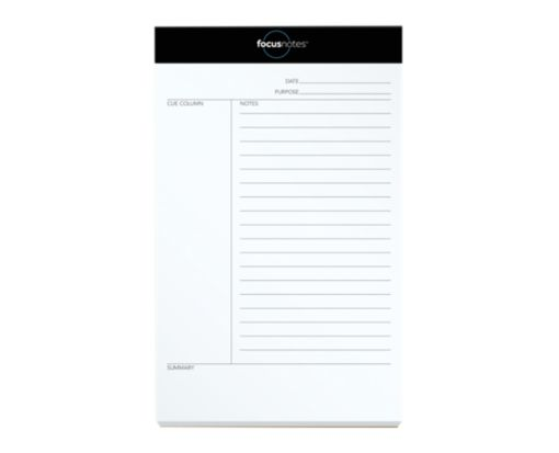 5 x 8 FocusNotes Legal Pads - Cornell Ruled White