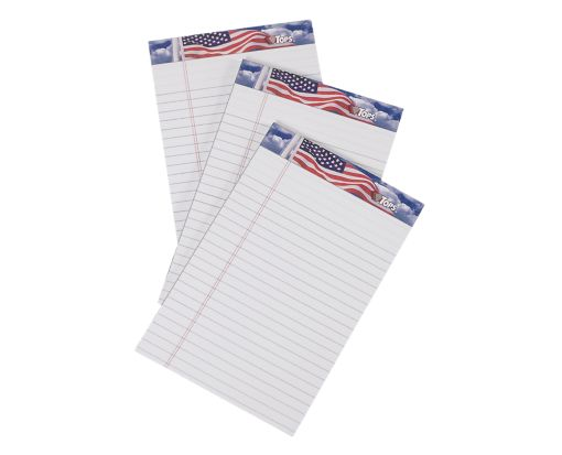5 x 8 American Pride Notepads White
