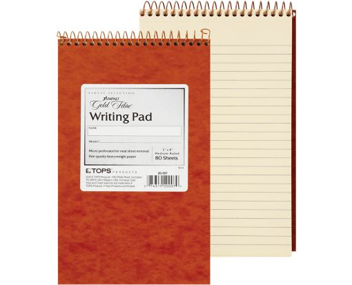 5 x 8 Ampad Gold Fibre Writing Pads Ivory