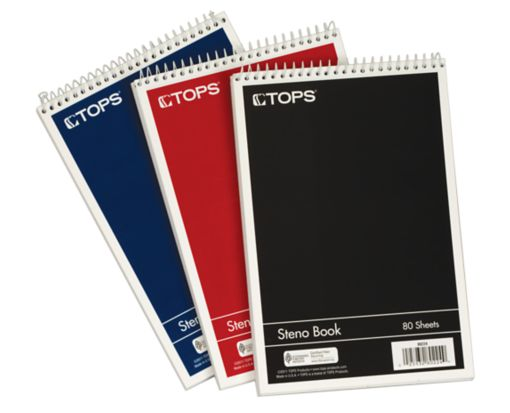 6 x 9 Steno Books Assorted