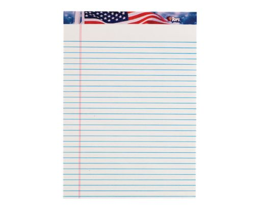 8 1/2 x 11 3/4 American Pride Notepad White