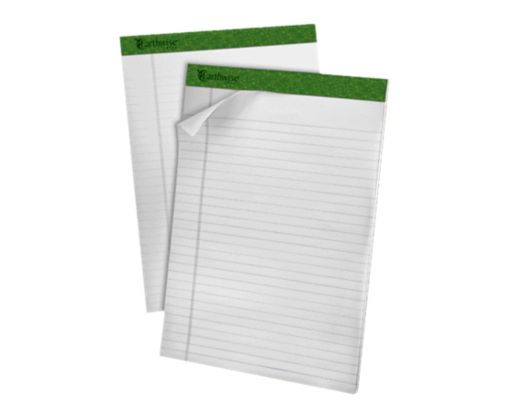 8 1/2 x 11 3/4 Earthwise Recycled Notepad White