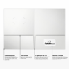 9 x 12 Presentation Folders - Standard Two Pocket w/ Front Cover Center Card Slits White Gloss