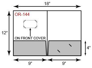 9 x 12 presentation folders | cover card slits |white gloss, Presentation templates