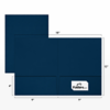 9 x 12 Presentation Folders - Standard Two Pocket w/ Front Cover Lower Right Card Slits Nautical Blue Linen