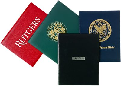 "Padded Diploma Cover - 8 1/2"" x 14"" Size w/ Landscape Orientation"