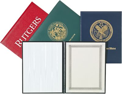"""Padded Diploma Cover - 8"""" x 10"""" Size w/ Landscape Orientation"""