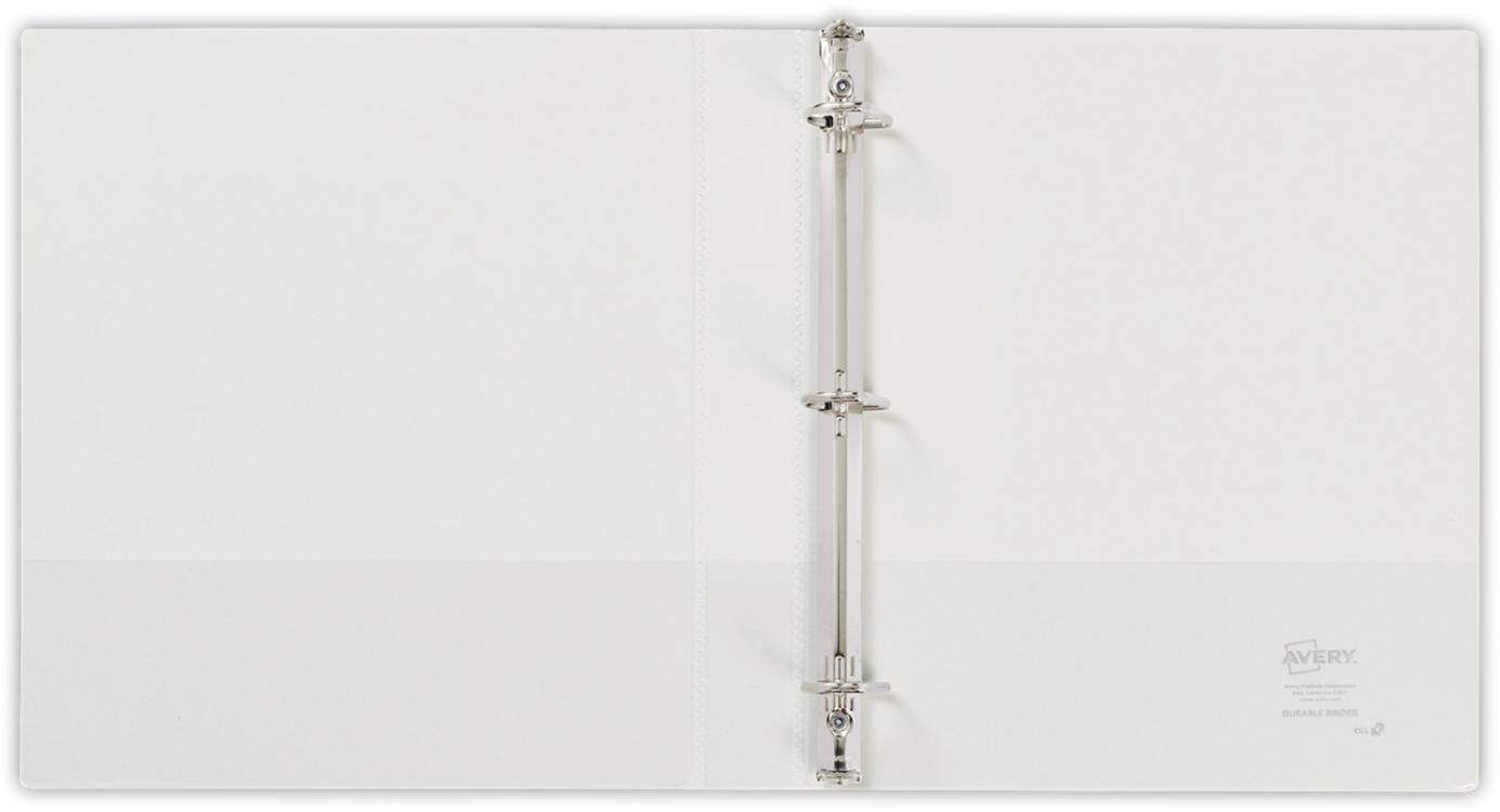 "1"" Durable View Poly Binder w/ Slant Rings White"