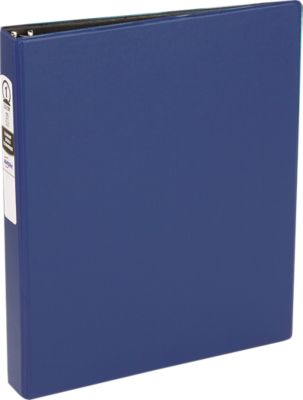 """1"""" Economy Non-View Poly Binder with Round Rings Blue"""