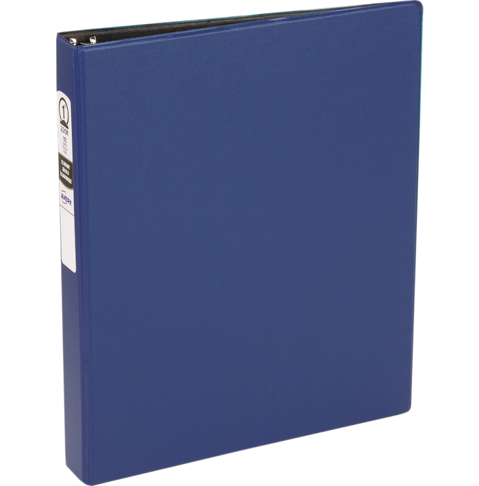 "1"" Economy Non-View Poly Binder with Round Rings Blue"