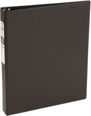 """1"""" Economy Non-View Poly Binder with Round Rings Black"""