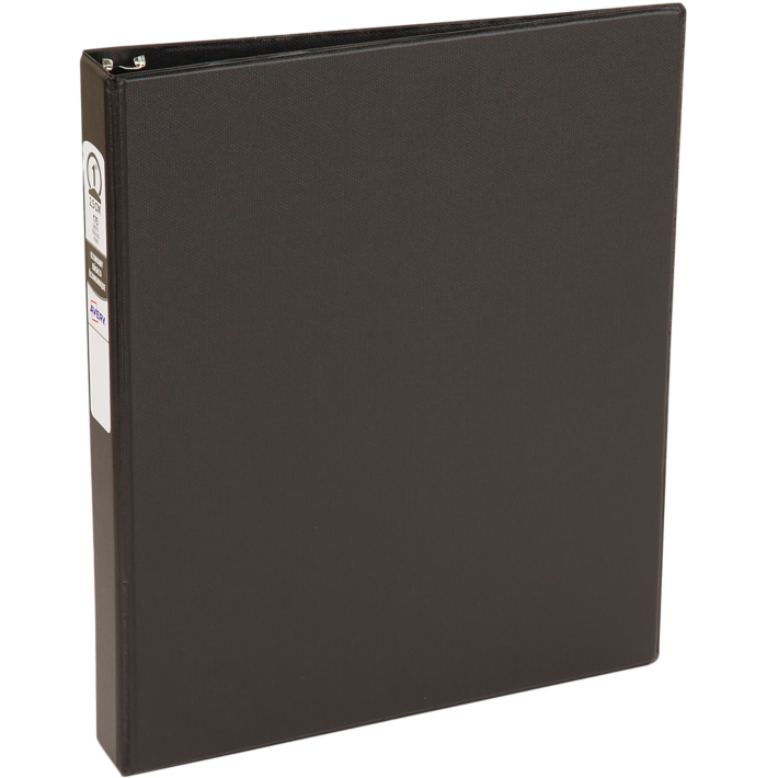 "1"" Economy Non-View Poly Binder with Round Rings Black"