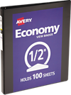 "1/2"" Economy View Poly Binder w/Round Rings Black"