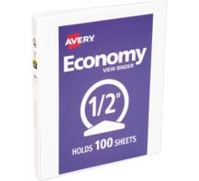 """1/2"""" Economy View Poly Binder w/Round Rings"""