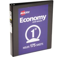 """1"""" Economy View Poly Binder w/Round Rings"""