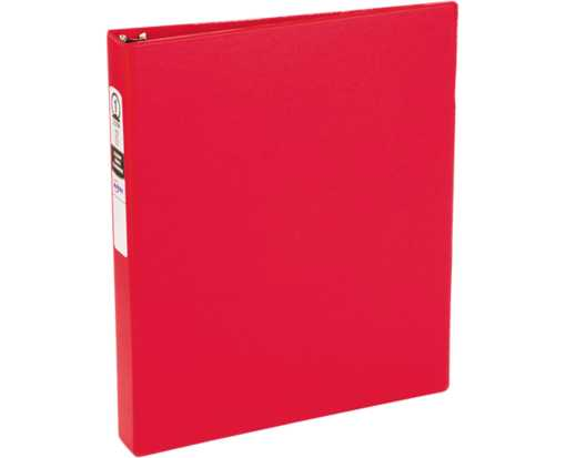 "1"" Economy Non-View Poly Binder with Round Rings Red"