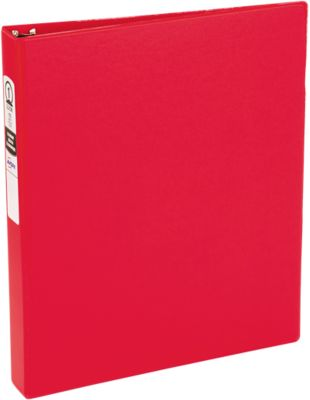 """1"""" Economy Non-View Poly Binder with Round Rings Red"""