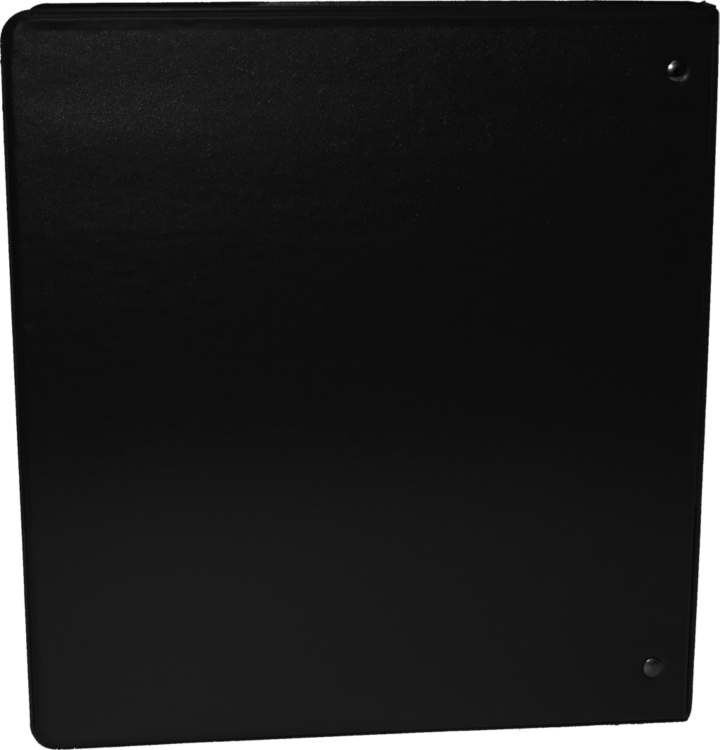 "1"" Earth Friendly View Binders Black"