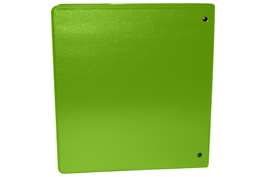 "1"" Earth Friendly View Binders Bright Green"