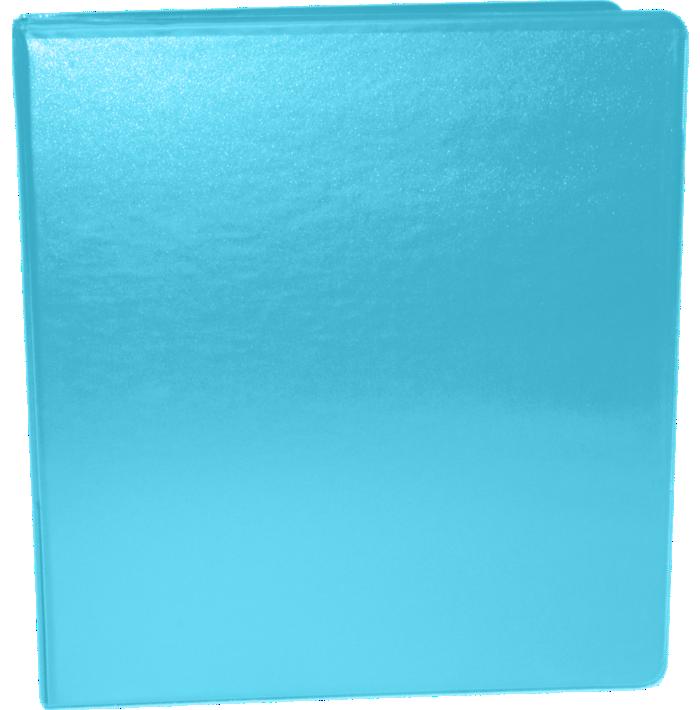 "1"" Earth Friendly View Binders Cool Aqua"