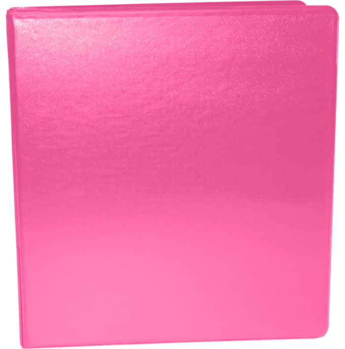 "1"" Earth Friendly View Binders Hot Pink"