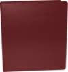 "1"" Earth Friendly View Binders Maroon"