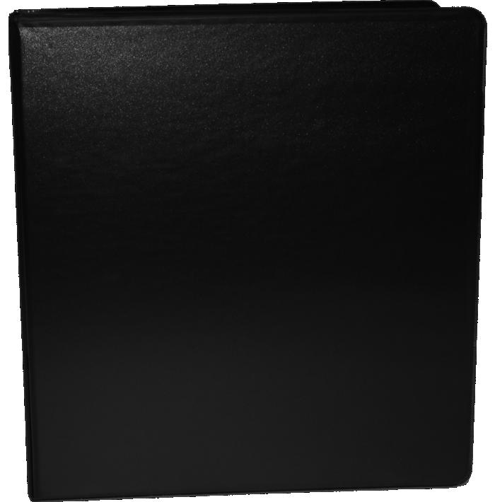 """1 1/2"""" Earth Friendly View Binders Black"""