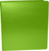 "1 1/2"" Earth Friendly View Binders Bright Green"