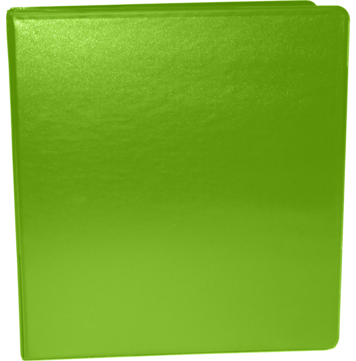 """1 1/2"""" Earth Friendly View Binders Bright Green"""