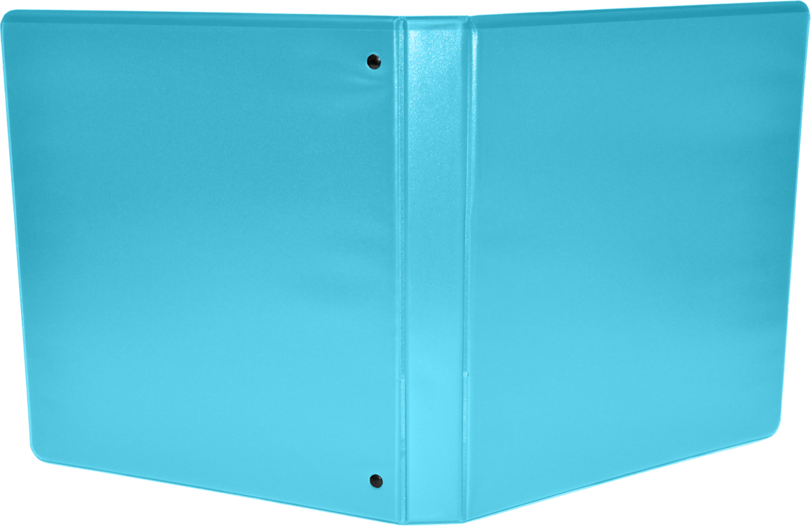 "1 1/2"" Earth Friendly View Binders Cool Aqua"