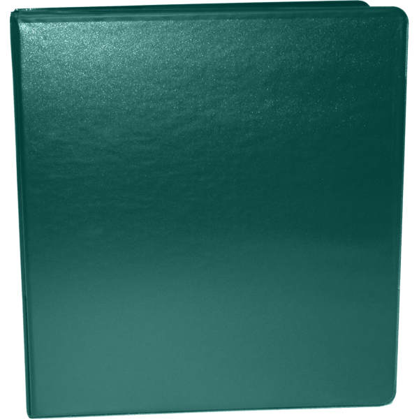 "1 1/2"" Earth Friendly View Binders Forest Green"