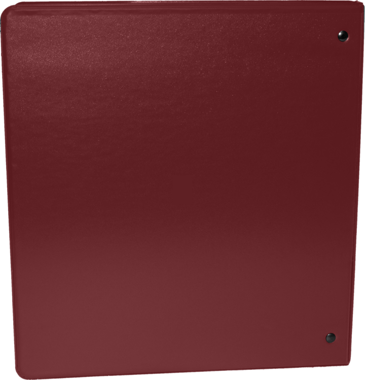 "1 1/2"" Earth Friendly View Binders Maroon"