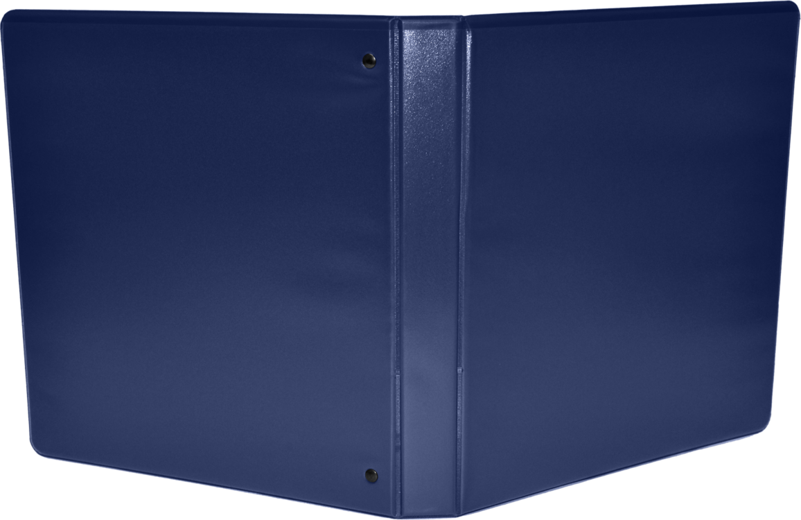 "1 1/2"" Earth Friendly View Binders Navy"