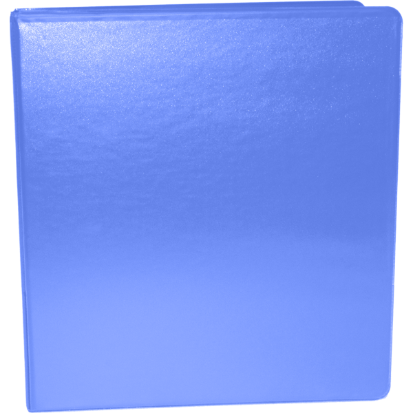 "1 1/2"" Earth Friendly View Binders Periwinkle"
